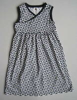 Tea Collection Girls 8 Yrs Che Figata Wrap-Neck Dress EUC Triangles Black White