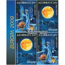 Aserbaidschan Azerbaijan Europa CEPT 2009, Astronomie, teilgezähnt ** postfrisch