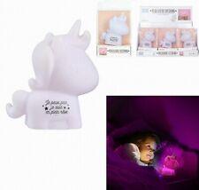 1 VEILLEUSE LICORNE 10 X 4.5 CM ENFANT LAMPE DECORATION CHAMBRE BEBE