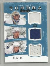 2011-12 Artifacts Hockey Canucks Tundra Trios Luongo-Kessler-Elder # 36/149 CSC