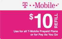 T-Mobile  Prepaid $10 Refill Top-Up Fast Direct Refill to your Mobile number
