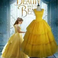 Adult Beauty and the Beast Belle Costume Ladies Cosplay Princess Fancy Dress