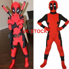 Kids Deadpool Costume X-man Superhero Child  Boy Sets Cosplay Clothing zr