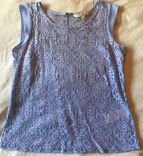 Forever New Cream Lilac Lace Top Size 12