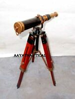 Marine Navy Nautical Brass Telescope With Tripod Stand Handmade Vintage Spyglass