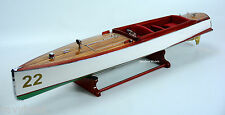 Number Boat 22 Designed by Charles D Mower - Wooden Handmade model classic boat