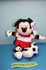 "Walt Disney Store And Parks Mini Bean Bag Plush Soccer Mickey Mouse 9"""