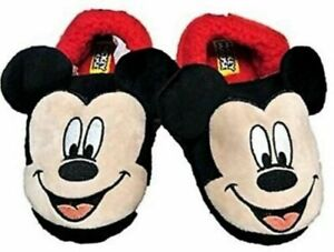 DISNEY MICKEY MOUSE Rubber Bottom Slippers Toddler's SIZE 9-10