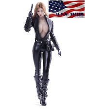 1/6 Black Widow Female Leather Sexy Agent Suit For Phicen Hot Toys Figure ❶USA❶