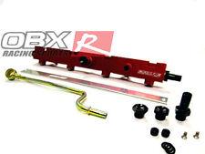 OBX RED Aluminum Fuel Rail Fits 02 04 05 06 Civic Si K20A3 K20Z3 2.0L