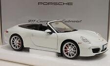 MINICHAMPS 2013 Porsche 991 Carrera S Cabriolet White 1:18 Rare Dealer Edition