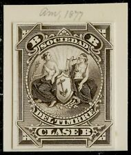 Abnco. 1877 Die Essay For South America Xf-Superb Ex-Green Bq3985