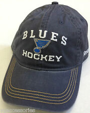 NHL St Louis Blues Reebok Slouch Curve Brim Buckle-Back Hat Cap NEW!!