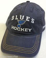 NHL St Louis Blues Reebok Slouch Curve Brim Buckle-Back Hat Cap NEW!!