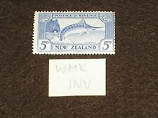 1936 NEW ZEALAND Stamps INVERTED WMK SG584aw 5d ULTRAMARINE LIGHTLY HINGED MINT