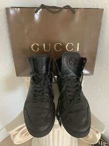 Authentic Gucci Signature Imprime Mens High Top Sneakers Size 12 G  Style#224778