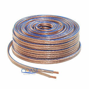 Car Home Audio Clear Flex 100 Feet True 16 Gauge AWG Speaker Wire Cable Spool
