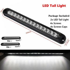 2PC 15-LED Waterproof Car Strip Light Bar Pickup railer Stop Turn Tail Reverse
