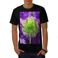 Wellcoda Psychedelic Flower Mens T-shirt, Nature Graphic Design Printed Tee