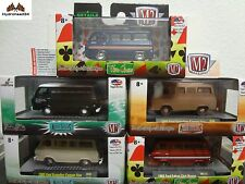 M2 Machines 2x 1965 Ford Econoline Camper Van 1Delivery Van 2x Falcon Club Wagon