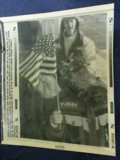 1994 Picabo Street Kvitfjell Norway downhill race US Flag Wire Press Photo