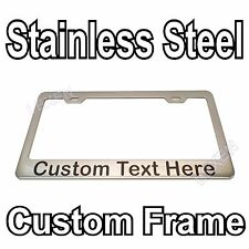 Custom Printed Chrome Stainless Steel License Plate Frame With YOUR TEXT a