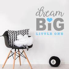 Dream big petit citer baby boy nursery chambre autocollant mural décor