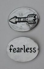p Fearless arrow spirit HANDCRAFTED PEWTER POCKET TOKEN CHARM basic coin courage