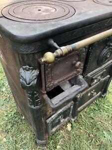 Ancien Fourneau Piano Cuisiniere Fonte Bois Goullyon Ganges