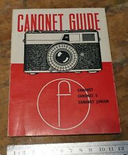 How to use Canonet Camera guide Photography manual 1965