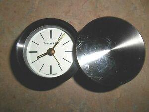 TIFFANY & Co.  Swiss Round Swivel Top Travel Alarm Clock