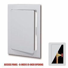 """Plastic Easy-Snap Wall or Ceiling Access Panel for 6"""" x 9"""" Opening"""
