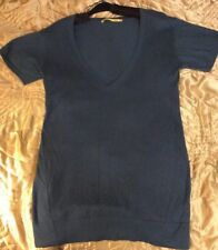 Ladies Beautiful Teal knit V neck jumper dress OASIS Cashmere Mix size12-14