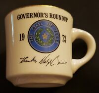 Vintage State Of Texas Governor's Roundup Coffee Mug 1973 Dolph Briscoe