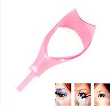 3 in 1 Mascara Guard Eyelash Brush Curler Lash Comb Cosmetic Makeup Applicator