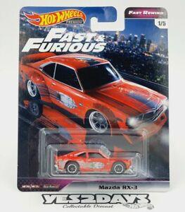 Hot Wheels FAST & FURIOUS - FAST REWIND 1974 MAZDA RX-3 Rotary Rx2 Rx7 R100