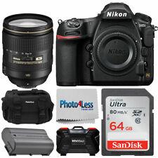 Cámara DSLR Nikon D850 FX con 24-120mm f/4G Af-s Ed Vr Lente + Kit de valor 64GB Pro