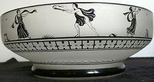 HAND PAINTED ART DECO ROMAN GRECIAN  GLASS BOWL
