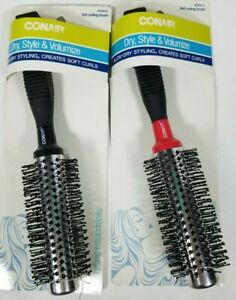 Lot of 2 Conair Style and Volumize Full Round Blow-Dry Styling Metal Brush