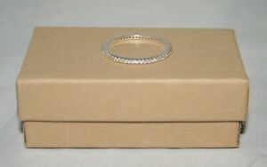 """Silpada Sterling Silver """"Perfection"""" Cubic Zirconia Pave Stack Ring R2750 Size 8"""