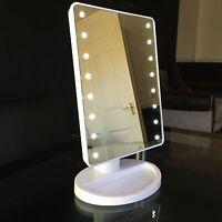 Touch 16 LED Light Illuminated Make Up Cosmetic Bathroom Shaving Vanity Mirror