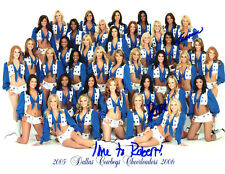 2005-2006 DALLAS COWBOYS CHEERLEADERS AUTOGRAPH TEAM PHOTO SIGNED BY 2 GIRLS!