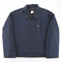 Vintage DICKIES  Blue 00s Cotton Blend Workwear Quilted Jacket Mens XL