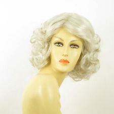 Parrucca donna ricci semi lunga bianco : kaissy 60