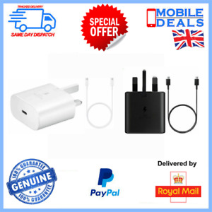 25W Super Fast Charger Plug & Cable For Galaxy S21 S21+ Ultra 5G
