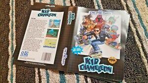 BOX ART ONLY Kid Chameleon Original Sega Genesis Case Sleeve