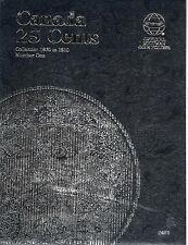 Whitman Coin Folder 2481 CANADA 25 Cents 1870-1910 Volume 1