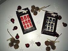 Xmas christmas stick on false artificial nails two packs one of each design