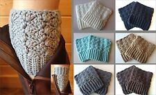 USA Seller! Boot Cuffs Crochet Wear 2 Ways New! 7 Colors Socks Topper Leg Warmer