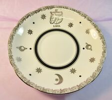 Vintage Royal Standard Bone China Zodiac Saucer Libra Scales Made in England